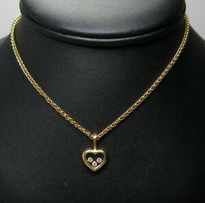 Chopard Happy Diamonds Kette 750 Er Gelbgold Diamanten Ca