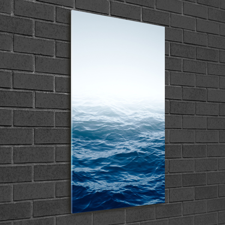- Muro ARTE Immagine pressione rigida-VETRO verdeICALE 50x100 onde mare