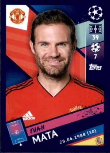 Sticker 187 Juan Mata Topps Champions League 18/19