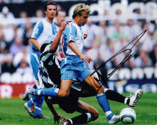 BLACKBURN MICHAEL GRAY SIGNED 10x8 ACTION PHOTO+COA G