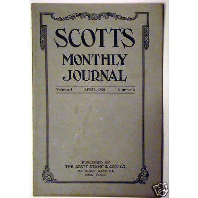Original April 1920 Scott's Monthly Journal V1N2 Stamps