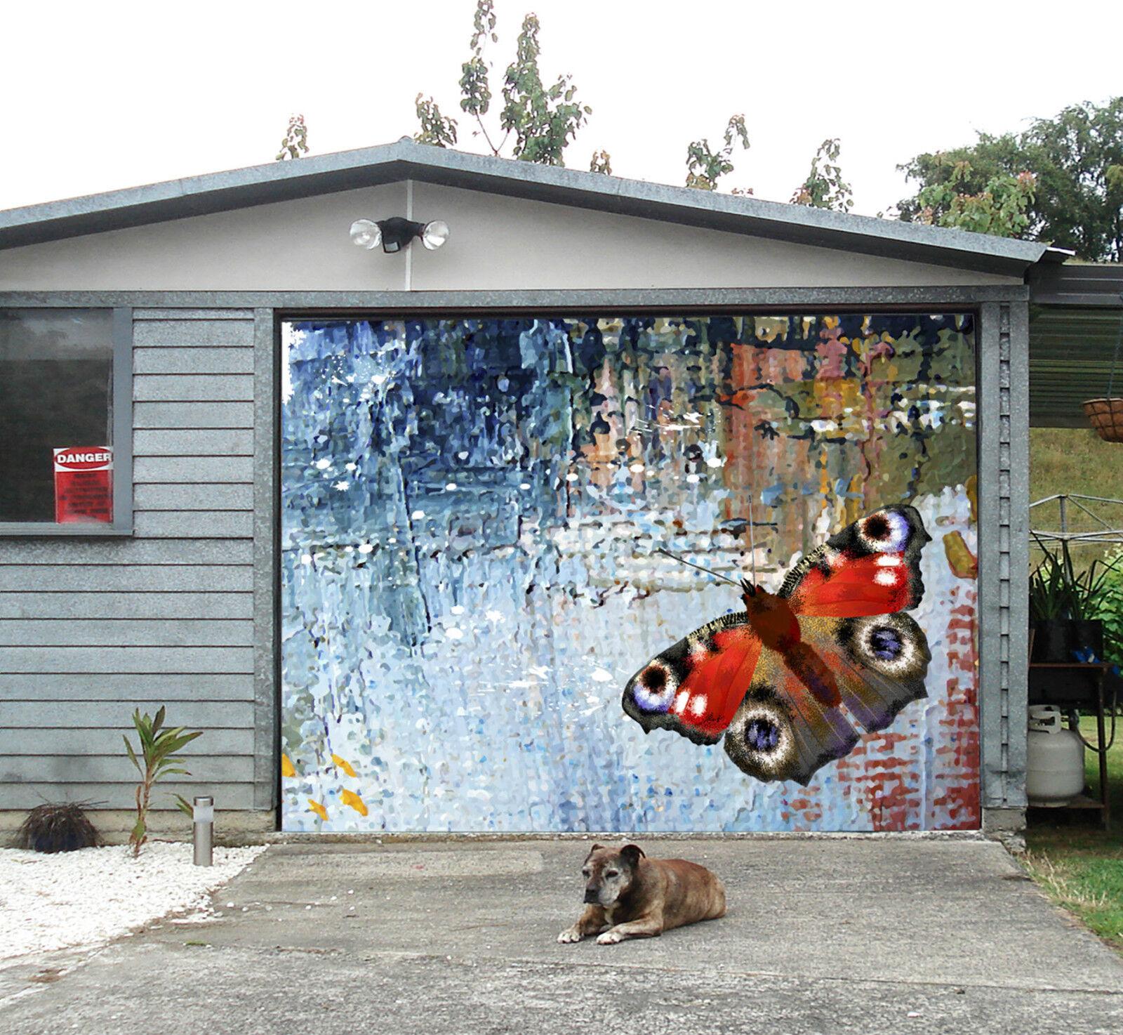 3D Schmetterling 8 Garage Door Murals Wall Print Decal Wall Deco AJ WALLPAPER DE