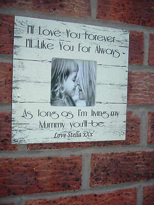Love You 60953 Vintage Shabby Chic Large Wall Plaque With Photo Frame