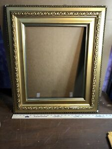 Vintage-Antique-Victorian-Gesso-Gold-Picture-Frame-Fits-16-by-20-Painting