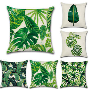 Verde-Tropicale-Copricuscino-foresta-pluviale-Palm-Banana-Leaf-pattern-HOME-Federa