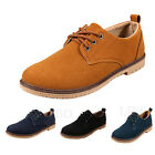 Mens Casual Flat Lace-up Suede Oxford Shoes Moccasin Driving Work British Loafer