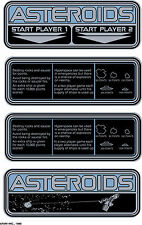 Asteroids arcade instuction cards sticker set