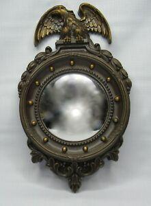 Homco Convex Porthole Mirror USA Federal Eagle 13 American Colonies Bullseye
