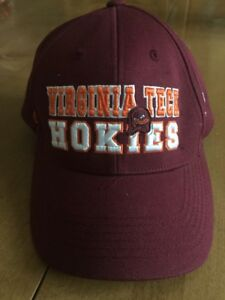 super popular ed48d 59f7a Image is loading Virginia-Tech-Hokies-Snapback-Cap-Hat-Mascot-New-