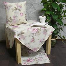 Tischläufer Zara rosa grau 50x150cm mit geometrischem Muster Hossner