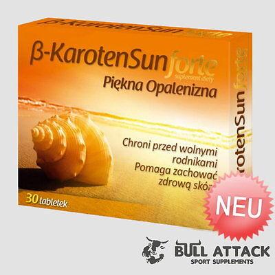 Beta Carotene Sun Forte 30 Tabletten (v) Schöne Bräune, gesunde Haut - Carotin
