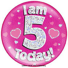 girls 12 today birthday party large big jumbo giant badge 12th pink hearts