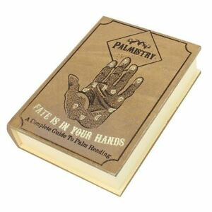 Palmistry-Book-Novel-Shaped-Storage-Wooden-Box-Ornament-Halloween-Occult-Witch
