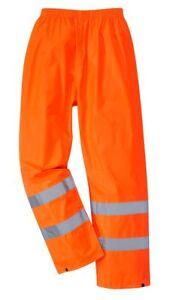Süß GehäRtet Warnschutz Regenhose Wetterschutz Leuchtorange Größe M Kleidung Xxl Strukturelle Behinderungen