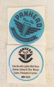 Panhead-Set-of-2-Acrylic-Dome-Sticker-Decal-Tap-Laptap-Mancave-Beer-UTE-Topper