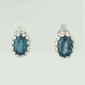 Kyanite-Stud-Earrings-Sterling-Silver-Pierced-Oval-1-60ctw