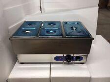 5 Pot Bain Marie Food Warmer Stainless Steel 1500w Steam Table 6 Deep Pan