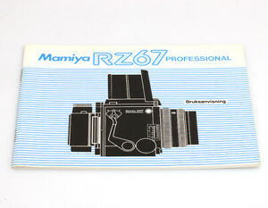 Mamiya-RZ67-Professional-Bedienungsanleitung-in-danischer-Sprache-Bruksanvisning