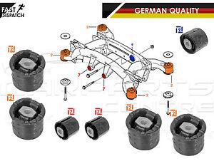 Para-BMW-X5-E53-EJE-TRASERO-SUBFRAME-Portador-Delantero-Diferencial-Bush-Arbustos-Conjunto