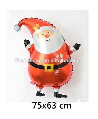 Santa Claus Christmas Helium Foil Balloon 75x63 cm Party Decoration Fun Kids