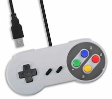 PC USB SNES Classic Style Retro Control Joy Pad Controller UK Seller