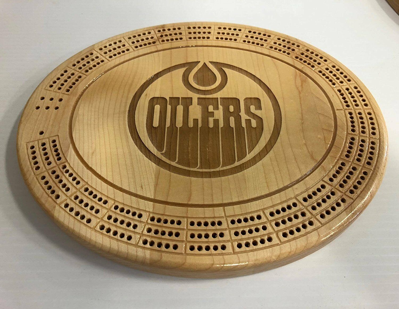 Edmonton Oilers Cribbage Board