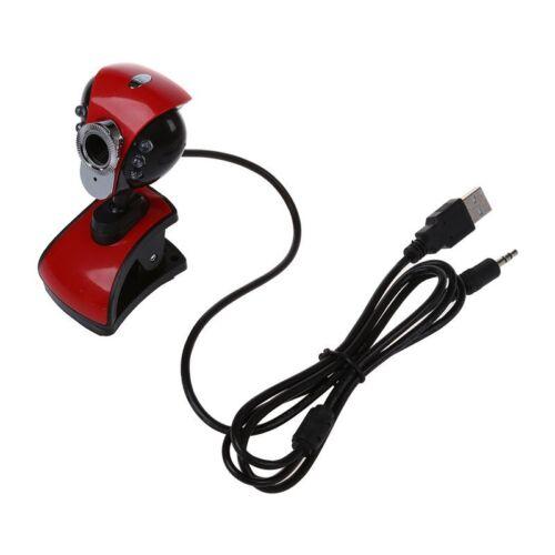 USB 50M 6 LEDs Night Vision Webcam Camera Web Cam With Mic for PC Laptop W J2L6