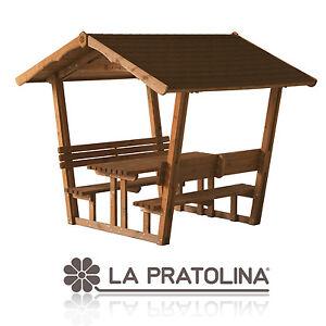 Gazebo panca da giardino in legno pergola tettoia - Tettoia per giardino ...