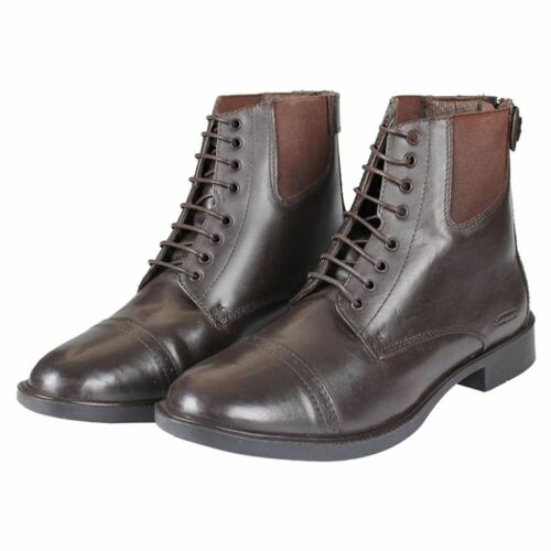 Horka Ladies Mens King Leather Lace Zip Rubber Sole Jodhpur Horse Riding Boots