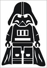 Darth Vader Lego Star Wars Corte pegatina de vinilo calcomanía Auto Moto Interior & Exterior