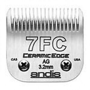 Lame de tondeuse pour chien Andis Ceramic 7fc.   3.2mm.