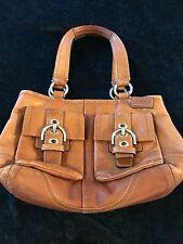 VINTAGE Coach Purse Tan Leather Soho Handbag Satchel Shoulder Bag #F08A09 *NICE*