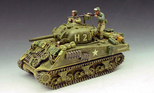 King & Country DD045 Sherman Tank, NEW from dealer, NEVER OPENED, Mint in Box