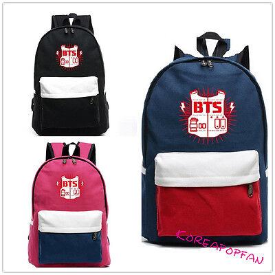 BTS Bangtan Boys  CANVAS BAG JUNGKOOK SCHOOLBAG BACKPACK KPOP NEW
