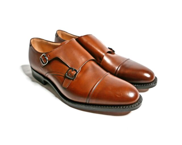 Cannon Double Monk Strap Shoes Brown UK