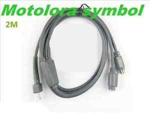 PS2-Keyboard-Wedge-a-RJ45-Cable-Fo-Motorola-simbolo-LS2208-LS4208-DS9208-Escaner