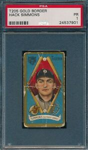 1911 T205 Hack Simmons Sweet Caporal PSA 1 *OBGcards*