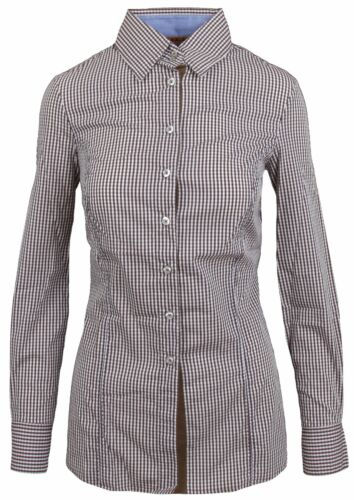 Braun Größe M Shirt Kariert Damen Checkered L' Langarm Bluse Argentina 38 Brown nAxZ77