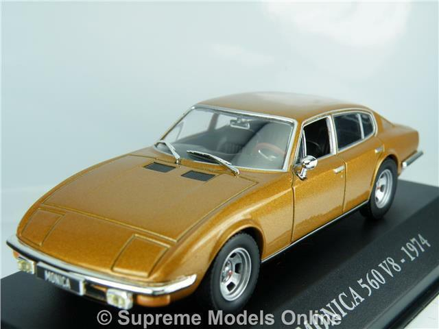 MONICA 560 V8 1974 CAR MODEL 1 43RD SCALE gold COLOUR ALTAYA EXAMPLE T3412Z(=)