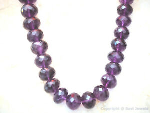 AMETHYST-7mm-15mm-1-Loose-Checkerboard-Faceted-Rondelle-Bead-Select-a-size-A