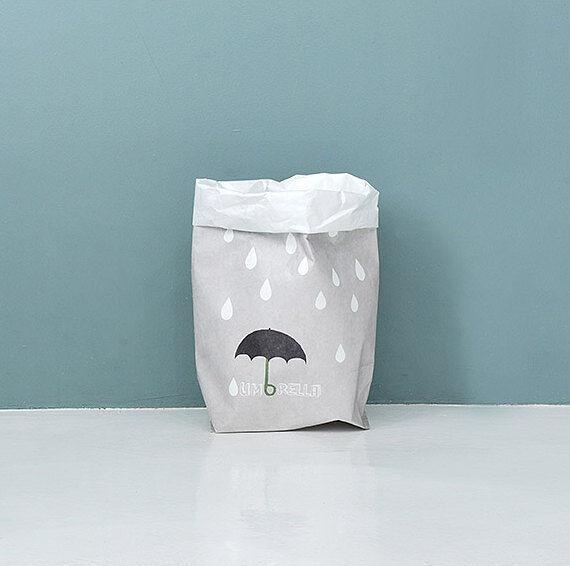 [Rain] paper storage bag large storage bag organizer laundry bags paper bag