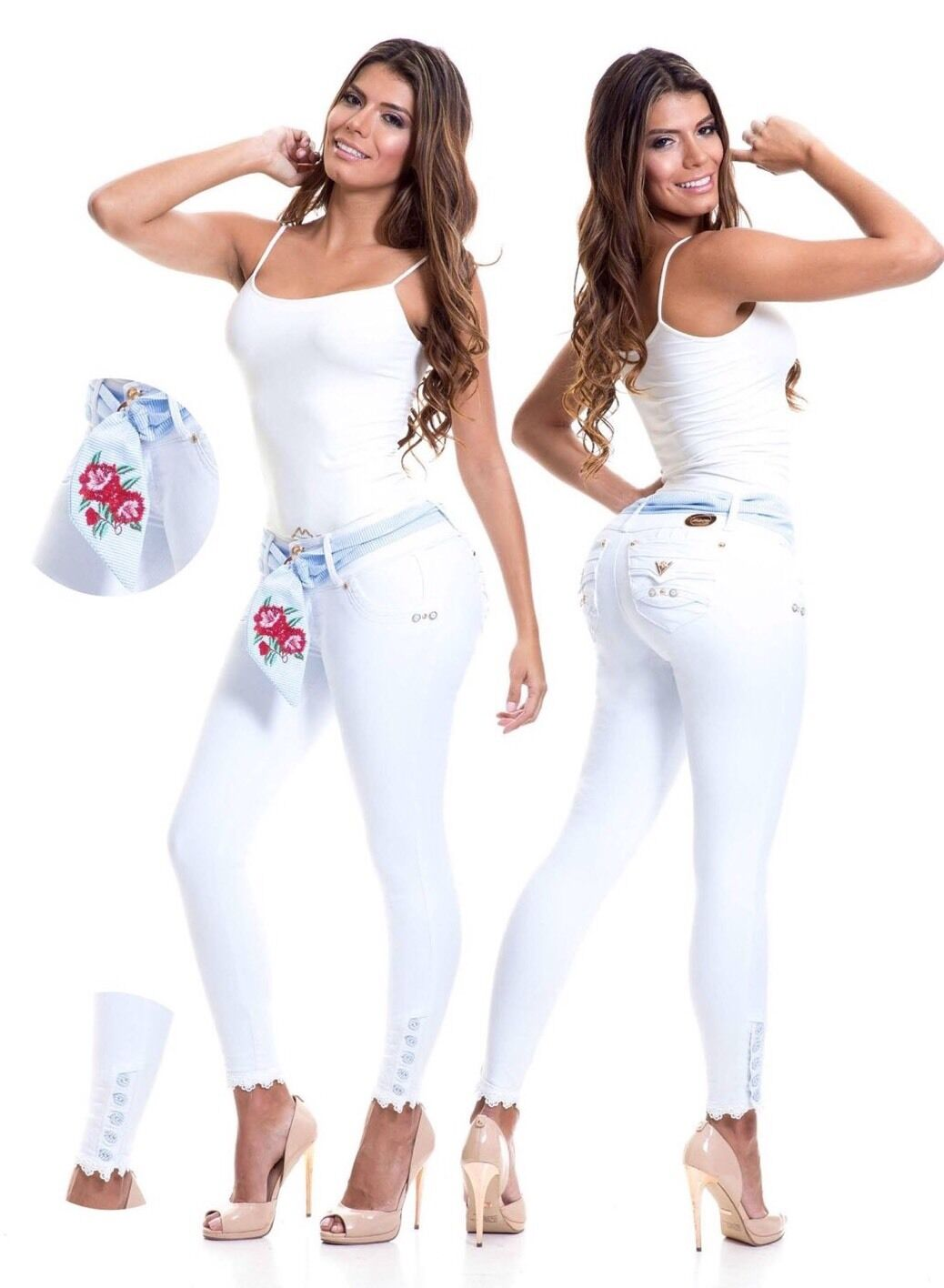 Colombian Enterizos Jeans   New Collection Sizes  1 2,3 4,5 6, USA