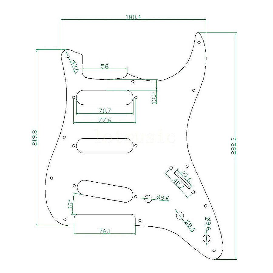 pickguard sss 3 ply tortoise pickguard for fender strat electric guitar parts 634458305860