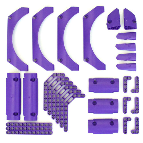 NEW Lego Technic Purple Studless Beams Panels Fairings 30 Parts Medium Lilac