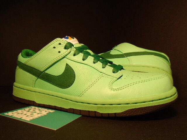 2008 Nike Zoom Dunk faible Premium Basic OLYMPIC TOURMALINE PINE GREEN LODEN 5 6.5