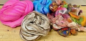 Wool-Rovings-70g-Botany-Lap-Waste-Pinks-Browns-Blues-Tops-Felting-Spinning-WO8