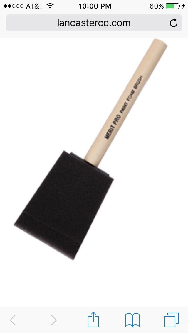 2  Foam Brush. Wood Handle Made By Merit Pro. 100 Pieces For  65.00.