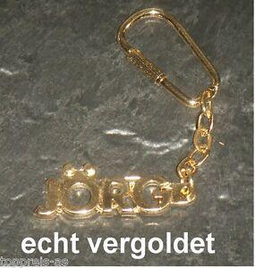 Intellektuell Edler SchlÜsselanhÄnger JÖrg Vergoldet Gold Name Keychain Weihnachtsgeschenk