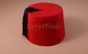 large Hand Made Adult Red Fez Tarboush Tarboosh Ottoman Turkish Hat ... 15caf318ef6c