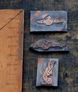 3-x-Galvano-Druckplatte-Klischee-Eichenberg-printing-plate-copper-print-Maedchen